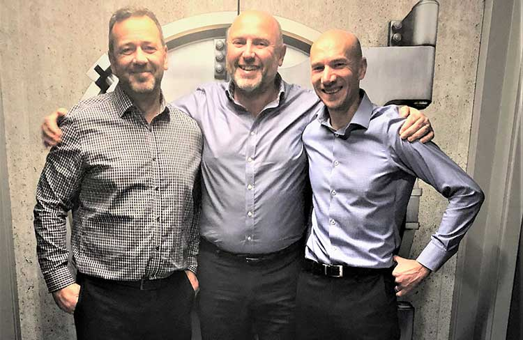Left-to-right: George Gordon, COO, Graeme Gordon, CEO and Andrew Gordon, Finance Manager