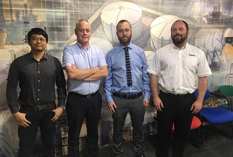 From left - Jun Chrysler L. Perote, Hans Meilof, Managing Partner, Al Yaseah Finbar Kelly, Commercial Manager, Norco Group UK, John Roy, Director, Norco Group UK