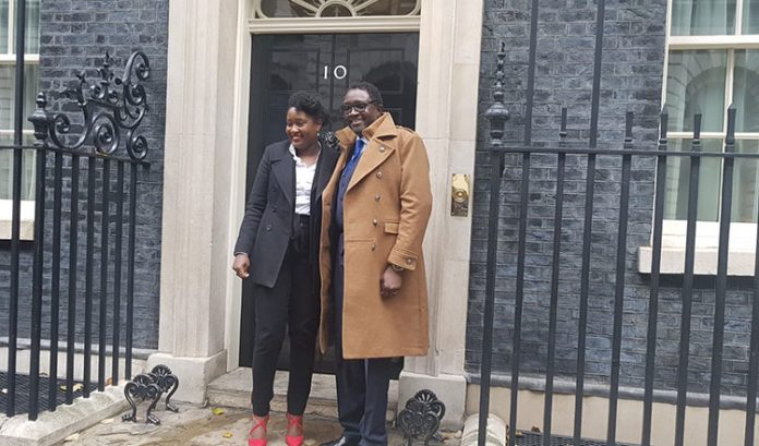 From left - Dr Nike Folyanan, chair of AFBE-UK and Dr Ollie Folayan, chair of AFBE-UK Scotland