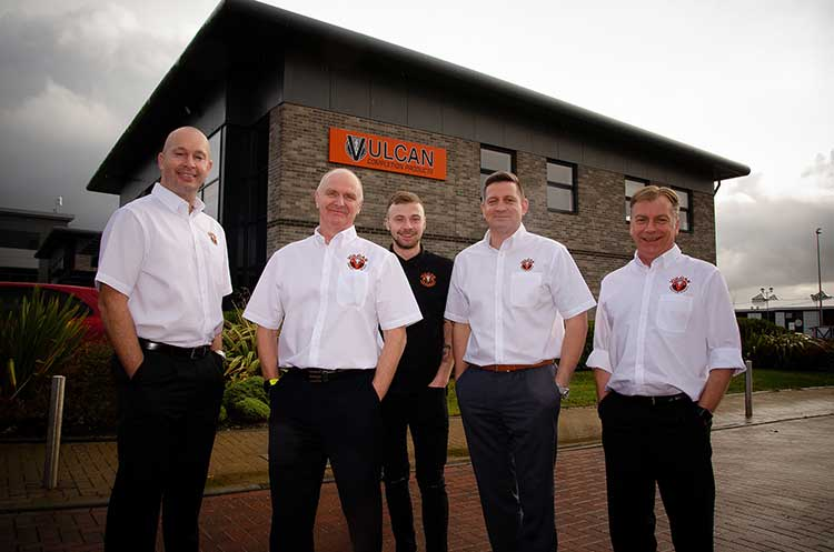from left, are: Martin Pirie, Ian Kirk, Nathan Kirk, Mark Dundee and Andy Kirk