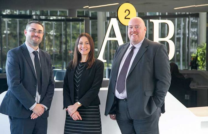From left to right; Duncan Raggett, Nicola Rollings and Neil Dempsey