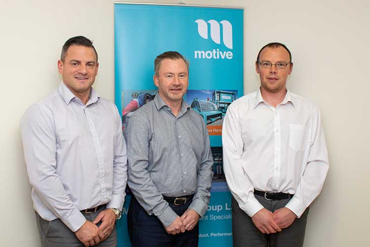 From left - MD Dave Acton, FD John Brebner, Sales & Operations Director James Gregg