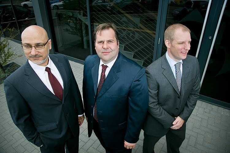 Nadir Mahjoub (Managing Director), Jamie Oag (CEO), Ryan Strachan (Financial Director)