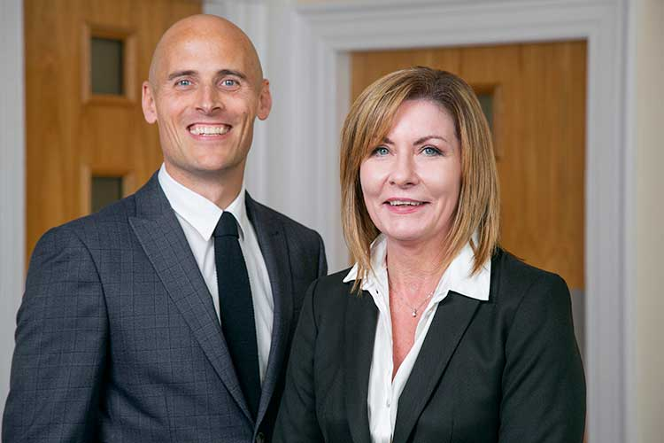 Craig Finnie, group managing director at Maxwell Drummond Group, and Lynn Carter, director at Maxwell Drummond Ltd