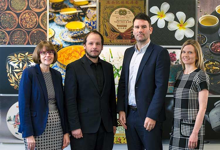 (l-r) Mairi Prior, Finance Director, Danny Cowie, Managing Director, Allan Smith, Business Development Director, Julie Murray, Creative Director