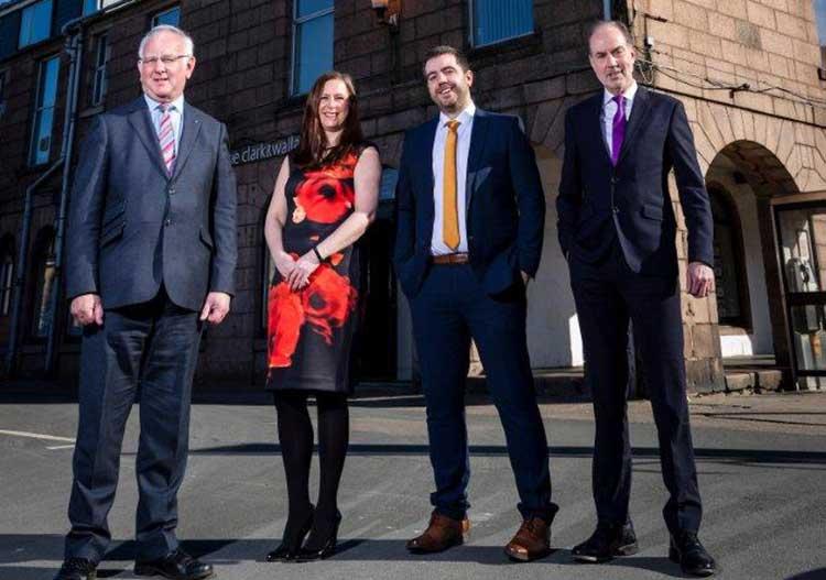 L-R: Gordon Ritchie, Naomi Mearns, Scott Rennie, Keith Allan