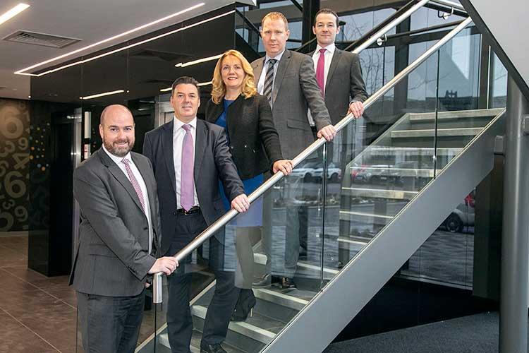 eft to right; AAB's Graeme Allan, Neil Dinnes, Gill Pryde, James Pirrie and Derek Mitchell