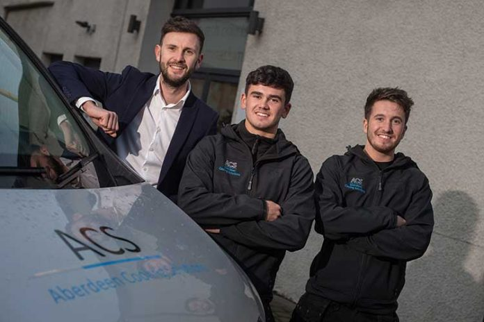 (L-R): Ryan Pirie, Michael Eaton and Calum Wilson of Aberdeen Cooling Solutions