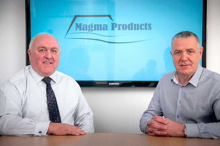 From left, Philip Tweedy, managing director of Magma Products, and Stephen Potts, the newly-appointed shutdown director