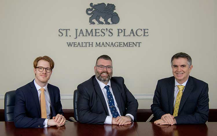 (L-R): Callum Robertson, Scott James and Graham Smith of Scott James Wealth Management