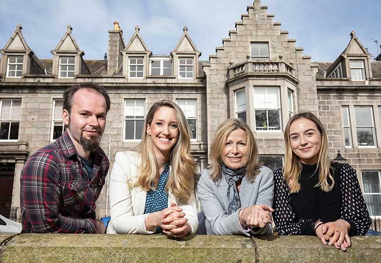 From left - Steven Bedford, Chrissy O'Farrell, Skerry Read, Kara Adamson
