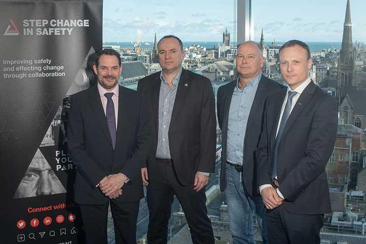 Left to right - Matt Rhodes, Craig Wiggins,Bob Fennell andMark Hobbs