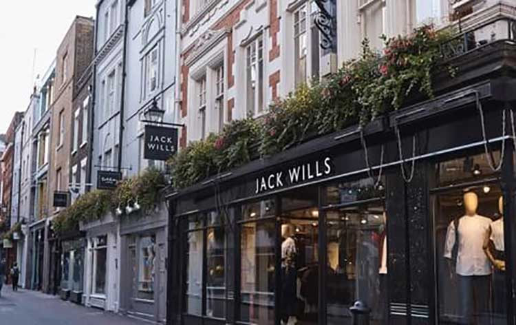 A Jack Wills retail outlet