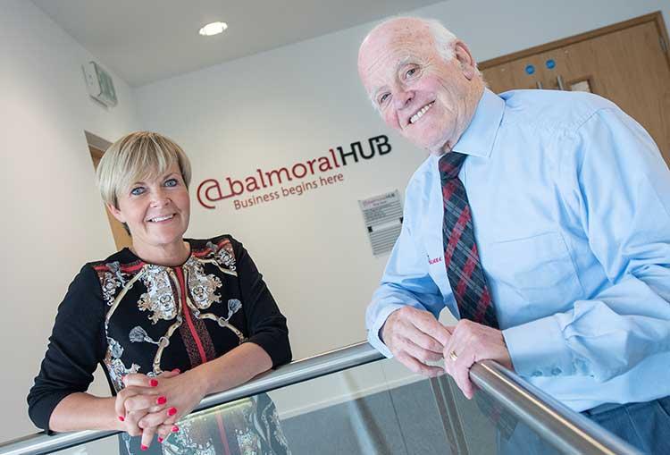 Karen Pugh, property director at Elevator and Jim Milne, chairman and managing director of Balmoral Group