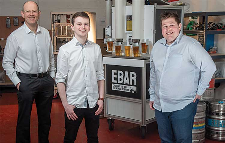 L-R: Nick Beeson (co-founder), Kyle O Callaghan (Lead Engineer) and Sam Pettipher (Co-Founder)