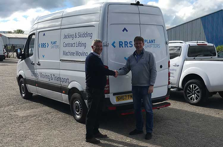 Paul Barber (left), managing director at RRS, with Graeme Morrison, the previous owner of Plantshifters (Scotland) Ltd.