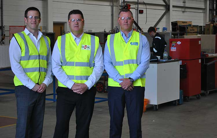 Left to Right: Mark Fraser – CEO, Mark Cowieson – Services Director, Oteac Ltd and Gareth Forbes - CFO