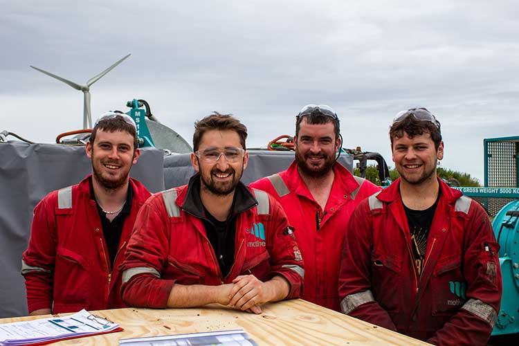 Motive Offshore technicians, at the company's Boyndie base