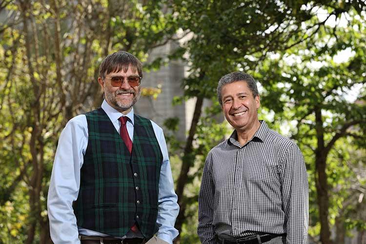 From left - Chris Overton and Djamel Hamel