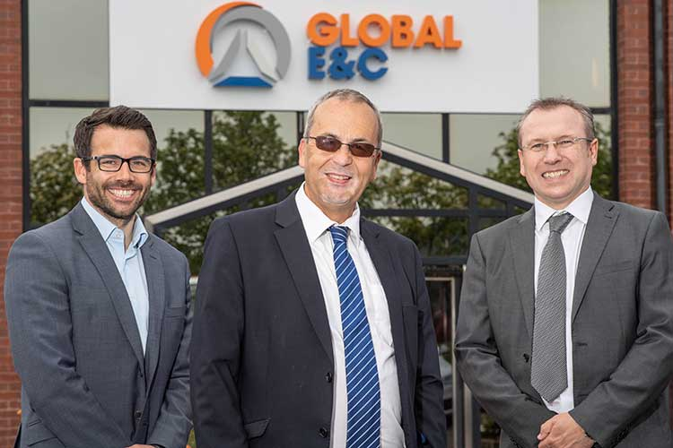 From left - Global E&C Corporate Development Director, Terry Allan - Global Energy Group Chairman, Roy MacGregor - Global E&C MD, Derek Mitchell