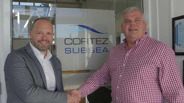 From left - Martyn Conroy from AFGlobal and Alasdair Cowie from Cortez Subsea