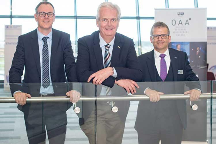 From left - Stuart McIntosh, Ian Phillips and Kenny McAllister