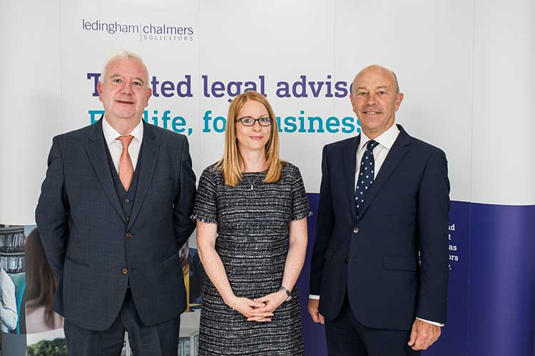 Left to right: Ledingham Chalmers partners Mike Cunningham and Nicola Reid, along with Simpson & Marwick Aberdeen property partner David Geddie