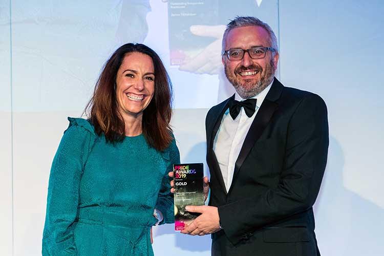 James Donaldson, director at Engage PR, at the Scotland CIPR Award