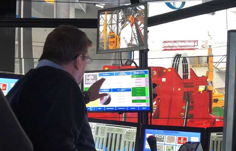 Safe Influx technology being tested on a DrillSIM6000