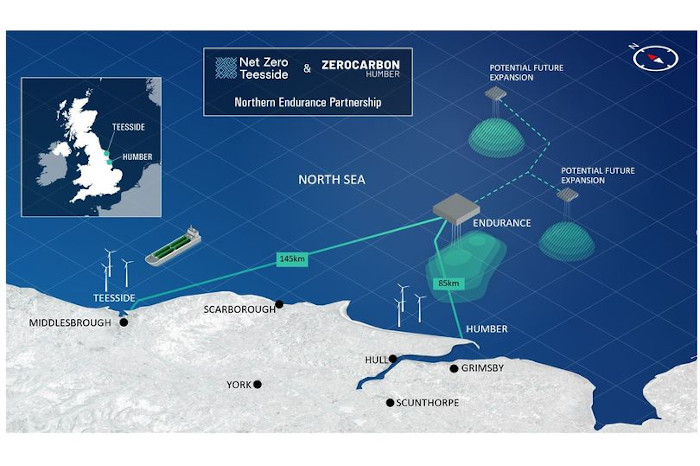 How the Northern Endurance Partnership proposes to play a key role in the UK's pursuit of Net Zero - combining carbon emissions from the Humber and Tees.