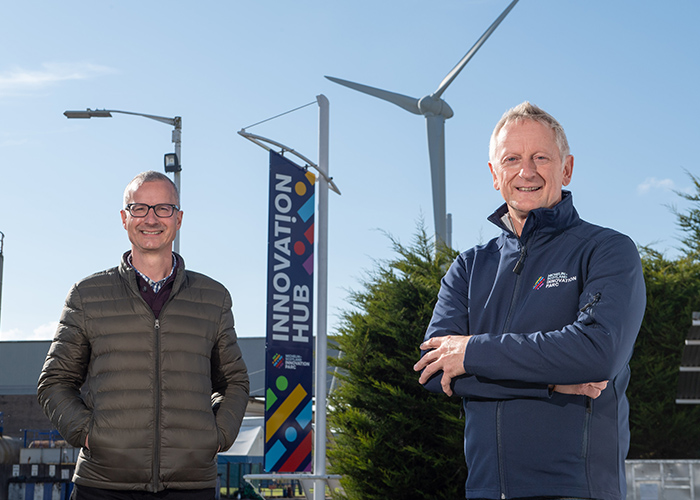 Bob Andrew, Elevator's MSIP Accelerator Manager and Greig Coull, CEO of Michelin Scotland Innovation Parc