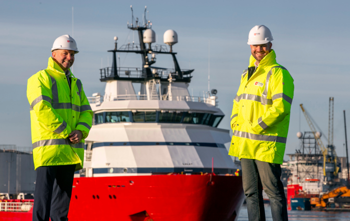 L-R Carl Lafferty and Marc McGruther who have joined First Marine Solutions
